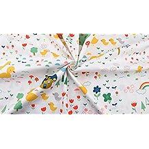 Ideal tela pollitos arcoiris NOVEDAD al corte por metros. 1 unidad es 0.50 m.