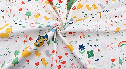 Ideal tela pollitos arcoiris NOVEDAD al corte por metros. 1 unidad es 0.50 m. x 1.60m . 2 unidades 1 m x 1.60 m...podras confeccionar cortinas, colchas, cojines, sabanas, canastillas, vestidos,100% algodon toallas, banderines, attrezo casa de muñecas, guirnaldas, manualidades de CHIPYHOME