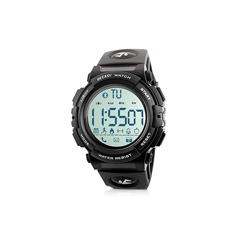 Beeasy Digital Sports Watches 5ATM Waterproof Military for Men Boys with Calorie Step Counter Pedometer Stopwatch Alarm…