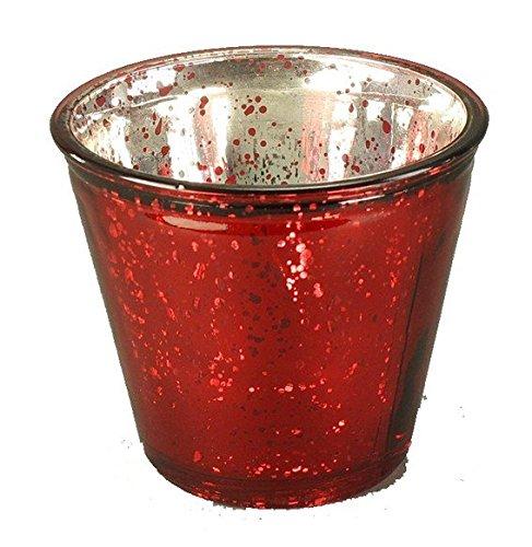 Voß_1 Windlicht antik (9 x 8 cm) - rot