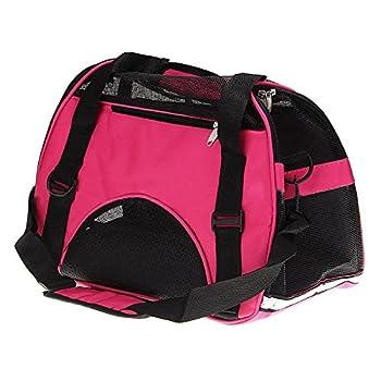 Sac de transport - SODIAL(R)Sac de transport de voyage pour chien chat Sac d'animal de compagnie en tissu rose