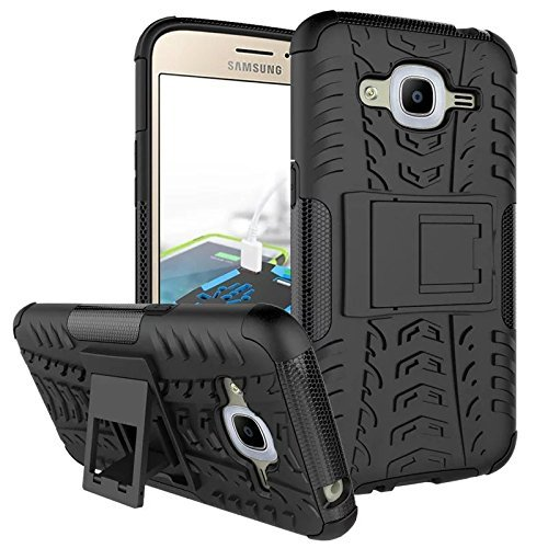 CITY Samsung Galaxy J2 (2016) Back Case Cover Defender with Kickstand Stylish Back Hybrid Armor Shock Proof and Border Safety (SM - J210) J2(6)