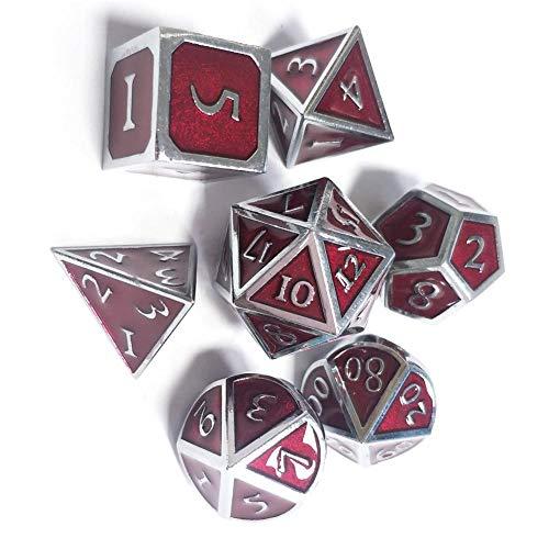 Funihut Polyedrische Würfel Set mit Taschen Doppel-Farben Polyedrischer Spielwürfel für Dungeons and Dragons D20 D12 D10 D8 D6 D4