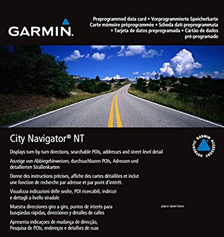 Garmin City Navigator 2015 Germany/Austria/Switzerland/Liechtenstein/Northern Italy/Eastern FranceMap micro SD Card