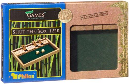 Philos-3271-Shut-The-Box-12er-Bambus-Green-Games-Wrfelspiel-Klappenspiel