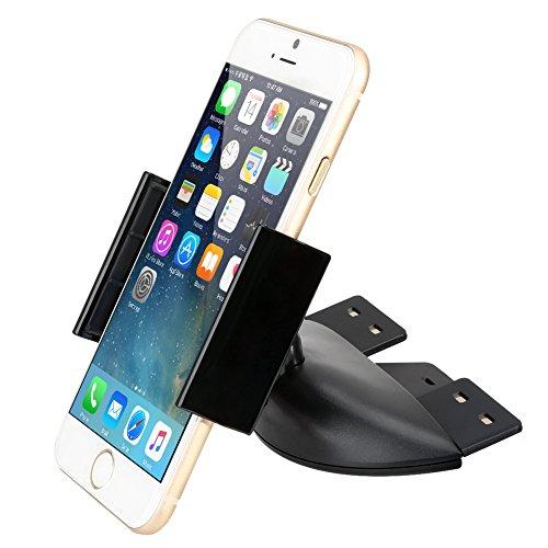 iKross Soporte de Coche para Ranura de CD, Monte su Celular, Smartphone, iPhone, GPS y más (Negro)