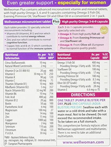 Vitabiotics Wellwoman Plus Omega 3∙6∙9 – 56 Tablets/Capsules