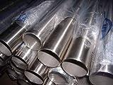 1x Edelstahlrohr V2A 42,4 x 2mm 2000mm lang Edelstahl Rundrohr K240 Rohr VaRohr