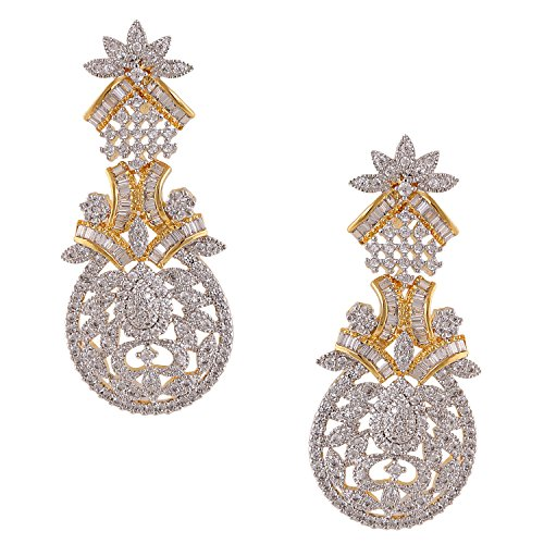 swasti Jewels American Diamant CZ Zirkon Fashion Schmuck Statement Ohrringe für Frauen