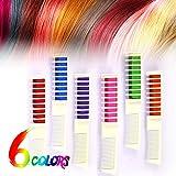 Haarfarbe Kamm, Huttoly Temporär Haarkreide-Set Kreide Kamm Haar Colorationen Instant Einmalige...