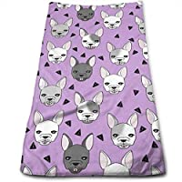 Junnikay Toallas de baño algodón con diseño de Bulldog francés, ...