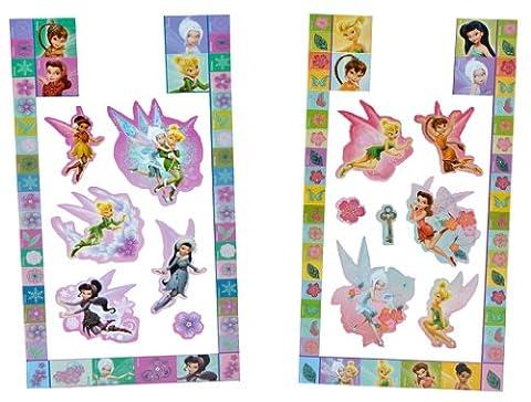52 tlg. Set Sticker / Aufkleber - Disney Fairies Tinkerbell - selbstklebend für Kinder Fairy Feen (Disney Tinkerbell Licht)