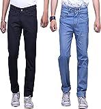 X-CROSS Men's' Slim Fit Jeans Combo- Bla...