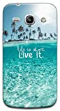 Mixroom - Cover Custodia Case In TPU Silicone Morbida Per Samsung Galaxy Core Plus G350 G3500 X381 Life Is Short Live It