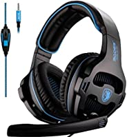 SADES SA810 Xbox One Gaming Headphones with Microphone & PC Adapter (