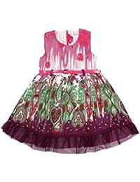 Tante tina robe robe d'été pour fille avec ceinture (motif paisley pression inclus) - 100%  coton-longueur genoux