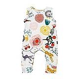 SHOBDW Girls Rompers, Baby Boys Cute Flower Animal Cartoon Plants Print Jumpsuit Outfits Newborn Pajamas Summer Sleeveless Clothes