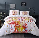 ymtter Exotischer Elefant-Weiß Bettwäsche Set 3D Print/Bettbezug mit Kissenbezug oder Bettwäsche/Blatt mit Reißverschluss Schließung Ganzjahres Bettwäsche-Set 140 * 200cm