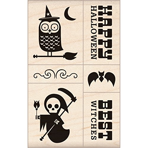 Inkadinkado Halloween Mounted Rubber Stamp 2.75
