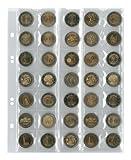 Multi collect Münzblätter für 35 Münzen bis 27 mm Durchmesser, Zwischenblätter schwarz, 5er-Packung
