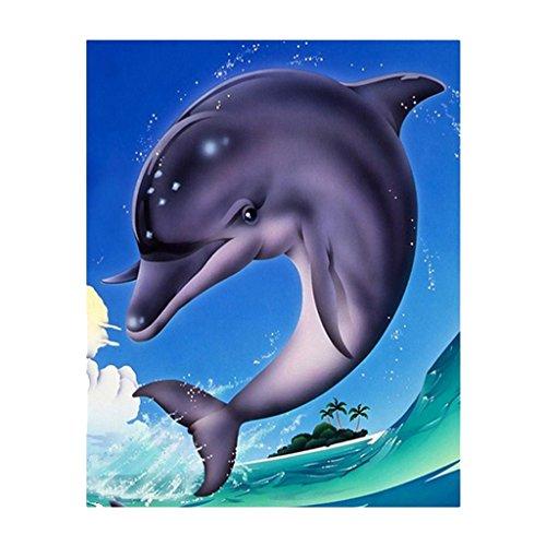MagiDeal DIY 5D Strass Kleben Diamant Stickerei Malerei Kreuzstich Handwerk Delphin Muster zum Auswahlen - Multi 5# -