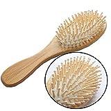 Leisial Bois de Bambou Peigne en bois Anti-statique Bamboo Brosse à cheveux en bois Massage Combinaison en ballon Peaux en bois solides et solides
