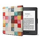 YEARN MALL Hülle für Kindle Paperwhite, Ultra Slim Lightweight Flip Schutzhülle Smart Cover [Auto Wake/Sleep] für Amazon Kindle Paperwhite (Passt Alle Paperwhite Generationen), Fantasy Würfel