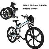 AIMADO Bicicletta Elettrica Montagna Pieghevole 26 Pollici Mountain Bike 250 W 30 km/h...