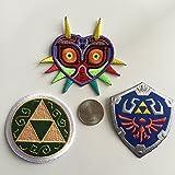 """3 Stück bestickte """"Legend of Zelda"""" Aufnäher, einschließlich Triforce, Majoras Maske, Master Hylia-Schild"""
