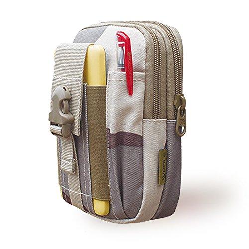 Tactical MOLLE pouch-outdoor Kompaktes EDC Utility Gadget Taille Tasche -900d Oxford Fanny pack-universal Multifunktional Kapazität Sicherheit Zubehör kits-holster für Camping Wandern Reisen Desert camouflage