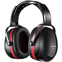 Mpow casque anti-bruit, protection auditive casque anti-bruit avec arceau réglable pour prise de vue, la chasse, la soudure, tonte, Construction, Noir et rouge