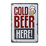 20x30cm Vintage Metal Tin Wall Sign Plaque Poster for Cafe Bar Pub Beer #6
