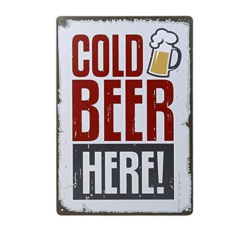 20x30cm Vintage Metal Tin Wall Sign Plaque Poster for Cafe Bar Pub Beer #6