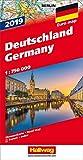 Deutschland 2019 Strassenkarte: 1:700 000 (Hallwag Strassenkarten)
