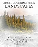 Adult Coloring Book Landscapes: A Stress Management Adult Coloring Book of Landscapes from Around the World (Advanced Realistic Coloring Books)