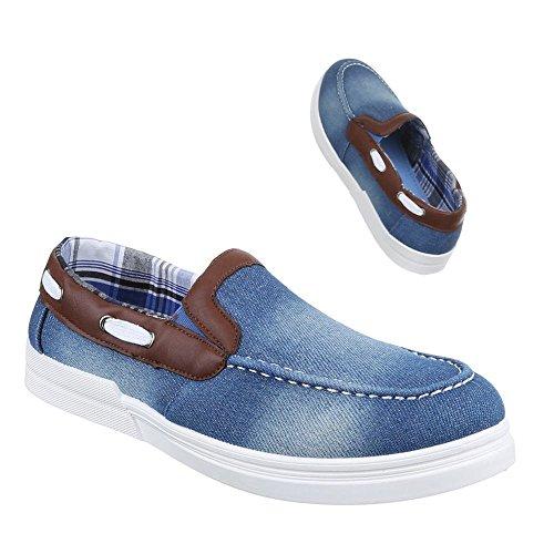 Ital-Design , mocassins homme Bleu - Bleu clair
