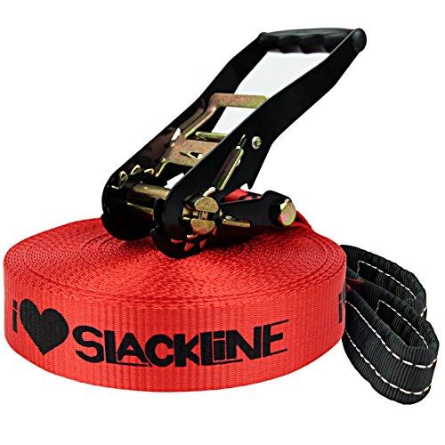 "Alpidex Slackline-Set ""I ❤ Slackline"", 15 m lang, 5 cm breit"