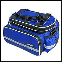 Erasky® Strada della montagna MTB della bici della bicicletta Ciclismo Sport impermeabile Rear Seat Bag Pannier Tronco Borsa accessori della bicicletta a tracolla della borsa Pannier (blu)