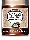 glyskincare Coconut Oil, Collagen & Keratin Hair Mask–mit natürliche Inhaltsstoffe–Coconut Oil, Collagen, Keratin, Weizen Protein, Vitamin E, Aloe und Panthenol–300ml