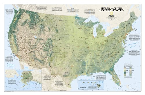 USA physisch: 1:5657000 (National Geographic Reference Map)