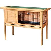 Caseta conejos conejera casa roedores mascotas animales pequeños madera jardín balcón