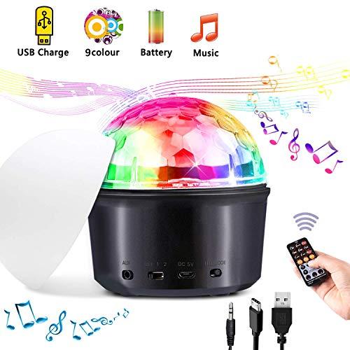 Luces Discoteca, Tencoz Bluetooth Bola Discoteca Cable