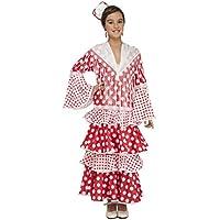 My Other Me - Disfraz de flamenca Rocío para niña, color rojo, 5-6 años (Viving Costumes 203858)
