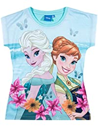 Disney El reino del hielo Chicas Camiseta manga corta - verde mar