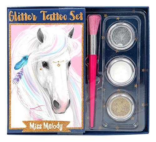 Depesche 10010 Glitzer Tattoo Set Miss Melody, bunt