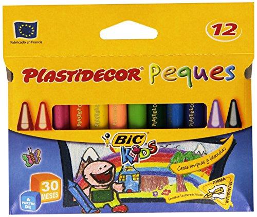 BIC Plastidecor Peques - Estuche con 12 ceras