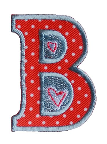 b-red-white-5cm-for-names-crafts-jeans-clothing-fabric-to-iron-on-boy-girl-children-child-kids-toddl