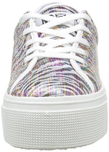 Nessuna Scatola Damen Alma E16 Sneaker, Multicolore Schwarz (zebra)