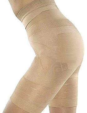 Pantaloncino da donna snellente body guaina dimagrante modellante mutande SS-W01 Beige Boolavard® TM (34/36 (S))