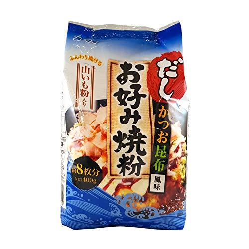 400g Gewürzmehl für Okonomiyaki, Bonito und Seetang Geschmack (Datum-sauce)